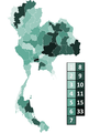 2014 Thai general election seat appropriation per region.PNG