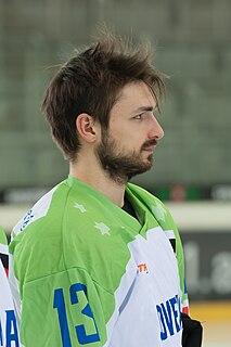 Žiga Pešut Slovenian ice hockey player