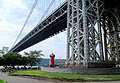 2015 Little Red Lighthouse annual tour (13) with George Washington Bridge.jpg