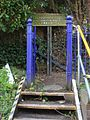 2016 at Pangbourne station - private path on down side.JPG