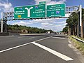 2018-10-03 12 18 25 View west along Interstate 76 (North-South Freeway) just east of Exit 2 (Interstate 676 NORTH, Camden, Benjamin Franklin Bridge) in Gloucester City, Camden County, New Jersey.jpg
