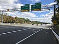 2018-10-24 12 19 18 View east along Virginia State Route 267 (Dulles Toll Road) at Exit 18A (Interstate 495 SOUTH, Richmond) in Tysons Corner, Fairfax County, Virginia.jpg
