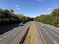 2018-10-30 11 56 42 View north along Virginia State Route 286 (Fairfax County Parkway) from the overpass for Virginia State Route 123 (Ox Road) in Fairfax Station, Fairfax County, Virginia.jpg