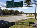 2018-10-31 12 08 35 View west along U.S. Route 50 (Arlington Boulevard) at the exit for Washington Boulevard (Clarendon) in Arlington County, Virginia.jpg