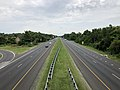 2019-07-11 10 28 51 View east along U.S. Route 50 (John Hanson Highway) from the overpass for Maryland State Route 202 (Landover Road) in Landover, Prince George's County, Maryland.jpg