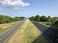 2019-07-28 16 56 43 View south along Interstate 695 (Baltimore Beltway) from the overpass for southbound Maryland State Route 151 (North Point Boulevard) in Dundalk, Baltimore County, Maryland.jpg