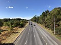 2019-10-10 14 15 27 View west along the westbound lanes of Maryland State Route 32 (Patuxent Freeway) from the overpass for Shaker Drive in Columbia, Howard County, Maryland.jpg