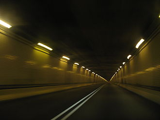 Allegheny Mountain Tunnel - Interior of the tunnel