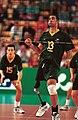 231000 - Standing volleyball Grant Prest action - 3b - 2000 Sydney match photo.jpg