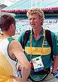 301000 - Athletics Australian head coach Chris Nunn talks to athlete - 3b - 2000 Sydney race photo.jpg