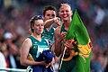 301000 - Athletics track Lisa McIntosh Alison Quinn Katrina Webb point - 3b - 2000 Sydney race photo.jpg