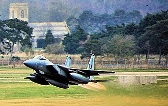 48th Fighter Wing - An F-15C Eagle from the 493d Fighter Squadron takes off from Royal Air Force Lakenheath, England, March 6, 2014.