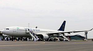 Rasht Airport - Image: 4 Rasht International Airport Saudi Arabian Airlines Airbus A330 223
