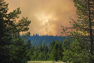 South Lake Tahoe, California - View of the Angora Fire from nearby