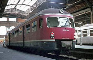 Battery electric multiple unit - Railcar no. 517 008 of the German national railway, DB
