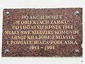 60816 - A plaque commemorating the wartime (AK) fate of the Castle in Biała Podlaska.jpg