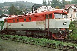 Lokomotiva 749 006-3 v Tanvaldě.