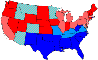 House Seats By Party Holding Majority In State