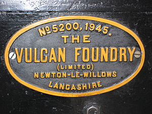 Vulcan Foundry - Vulcan Foundry worksplate