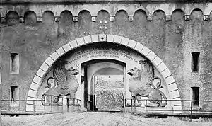 Third Army Air Service - Lion's Gate Entrance to Fort Kaiser Alexander