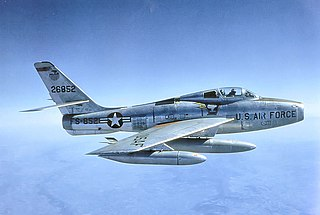 Republic F-84F Thunderstreak 1950 fighter-bomber aircraft