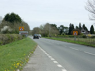 A420 road - A420 heading to Chippenham