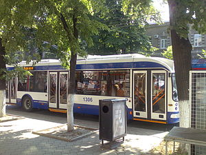 Trolleybuses in Chișinău - AKSM-321 operating on the route 22.