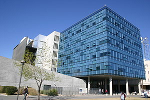 History of Arizona State University - Lattie F. Coor Hall, built in 2004, is one of the university's largest classroom and office buildings.
