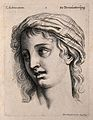 A female face expressing admiration. Engraving by M. Engelbr Wellcome V0009346.jpg