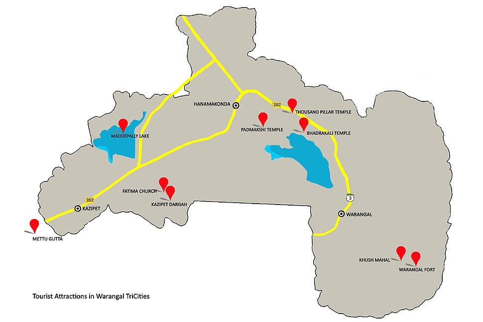 A few Tourist attraction spots in Warangal Tri-Cities