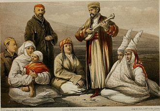 Thomas Witlam Atkinson - A lithograph Of Kazakhs from Oriental and Western Siberia
