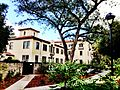 A pathway that leads to Harwood Lounge, Pomona College.JPG