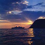 A starboard view of Gripsholm at Nordkapp, Norway, during the midsummer season (5074435245).jpg