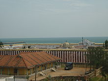 A view of Kumariamman temple and Indian ocean.JPG