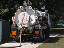 Vacuum Tanker Used To Collect Sewage At Tatton Park Flower Show, July 2009,  England