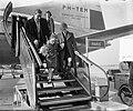 Aankomst filmsterretjes Brigitte Fossey en Georges Poujouly op Schiphol beiden…, Bestanddeelnr 905-5755.jpg