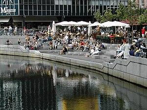 Aarhus C - Aarhus Å (Aarhus River) flows through Midtbyen.