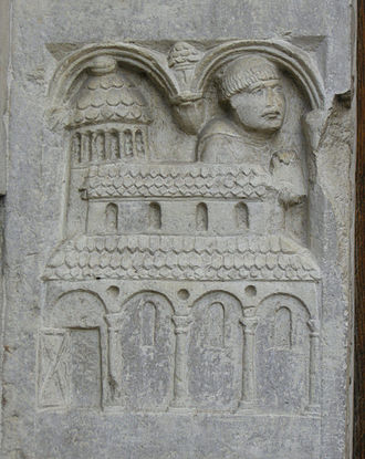 Territorial Abbey of Nonantola - Relief of Anselm founding the Abbey