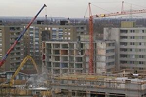 Deutsch: Rückbau einer Hochhauskette in Ludwig...