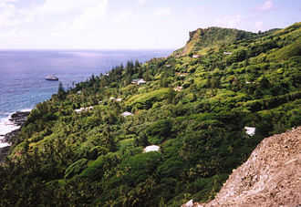 Pitcairn Islands - Adamstown, the only settlement in the islands