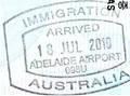 Adelaide airport arrived stamp.png