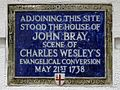 Adjoining this site stood the house of John Bray scene of Charles Wesley's evangelical conversion May 21st 1738.jpg