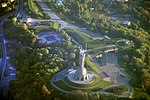 Aerial view of memorial complex of museum of the history of Ukraine in World War II and monument to the Motherland.jpg