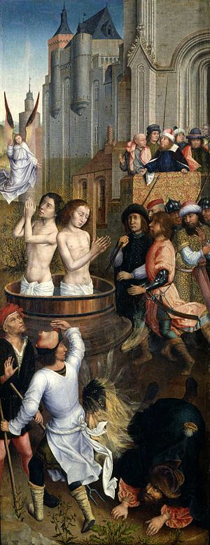 Aert van den Bossche - Martyrdom of Saints Crispin and Crispinian (right wing)