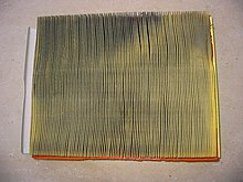 Used Auto Engine Air Filter Dirty Side
