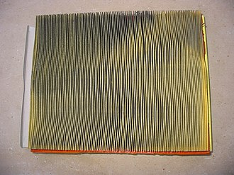 Air filter - Used auto engine air filter, dirty side