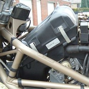 Airbox - Motorcycle airbox on a V-2 engine.