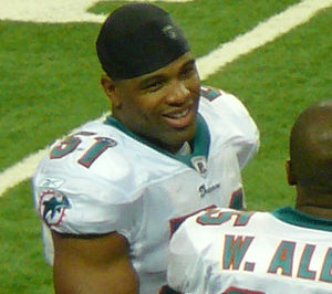 Picture of Miami Dolphins linebacker Akin Ayod...