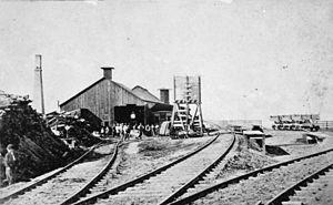 Alameda Terminal - Alameda Terminal, ca. 1869