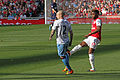 Alan Hutton and Alex Song (6867564898).jpg